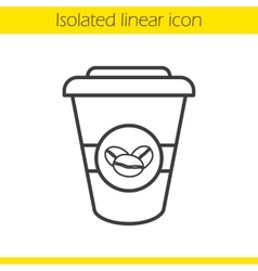 Takeaway coffee cup icon vector