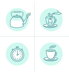 Tea infusion instructions and guide vector image