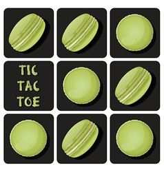 Tic-Tac-Toe of macaron vector image