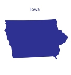 United States Iowa vector image