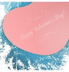Valentines Day big pink festive Heart Postard vector image