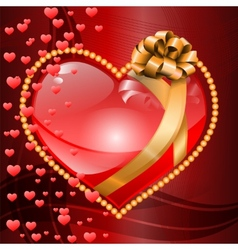 Valentines Heart on Backgrounds vector image