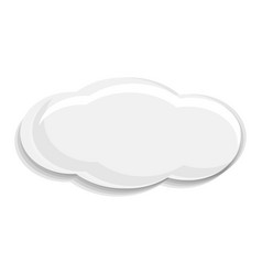 white cloud icon cartoon style vector image