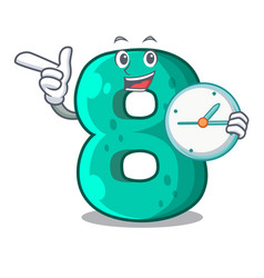With clock number house eight the shaped character vector