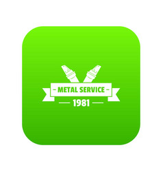 Workshop icon green vector