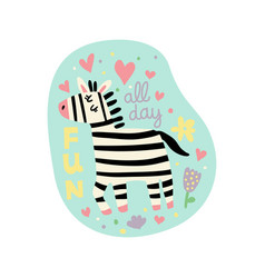 zebra fun color vector image