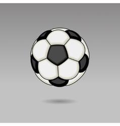 Football Ball on Light Background vector image vector image