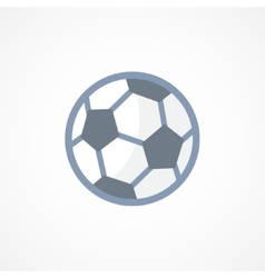 Football soccer ball icon sign vector image