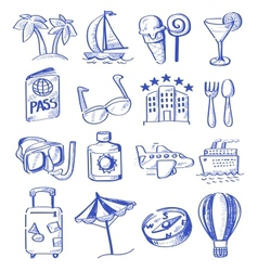 hand draw travel vector image