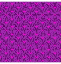 lilac chain of hearts seamless pattern vector image vector image