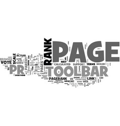 why page rank text word cloud concept vector image vector image