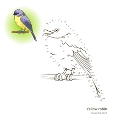 Yellow robin bird learn to draw vector image vector image