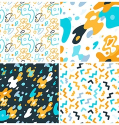 abstract background and seamless patterns with vector image