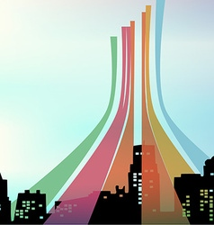 Color in the city vector image vector image
