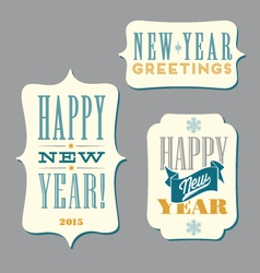 Happy New Year typography designs vector image vector image