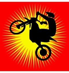 Motorcycle jump Logo vector image vector image