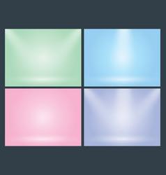 set of clear empty studio light pastel vector image vector image