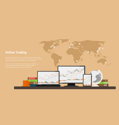 stock trading online vector image