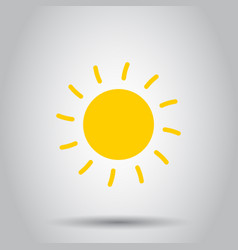 sun icon on isolated background business concept vector image vector image