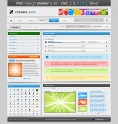 web design elements vector image vector image