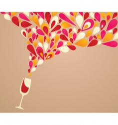 wine glass spilling vector image