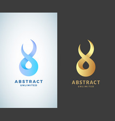 abstract infinity sign emblem or logo vector image vector image
