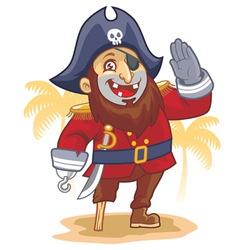 cartoon of pirate salute vector image