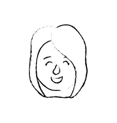 figure avatar woman head with hairstyle design vector image vector image