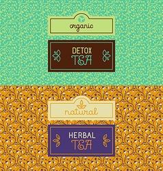 Herbal and detox tea packaging vector image vector image