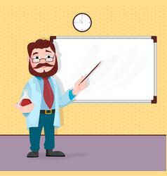 scientist professor standing in front of vector image