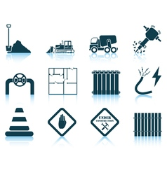 Set of construction icon vector image vector image