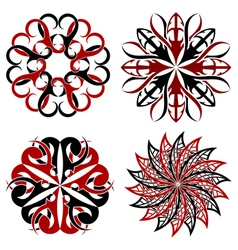 Set of round Tribal tattoo elements vector image vector image