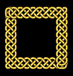square golden celtic knots frame vector image vector image