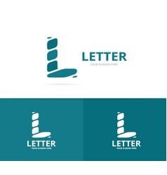 unique letter l logo design template vector image vector image