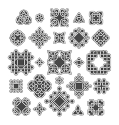 Chinese and celtic endless knots patterns vector image vector image