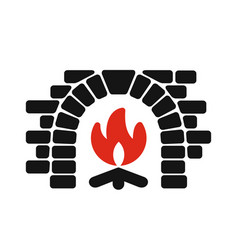 home fireplace icon vector image vector image
