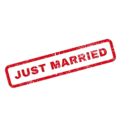 Just Married Text Rubber Stamp vector image vector image