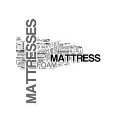 A brief history of the mattress text word cloud vector