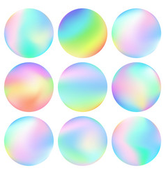 abstract colorful spheres vector image