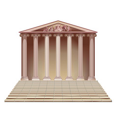 Ancient building with ionic columns vector