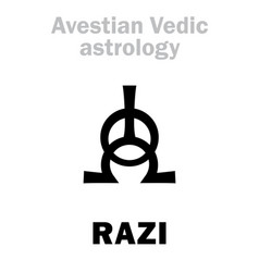Astrology astral planet razi vector