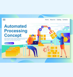automated process from management to production vector image