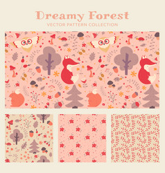 baby girl seamless patterns collection vector image