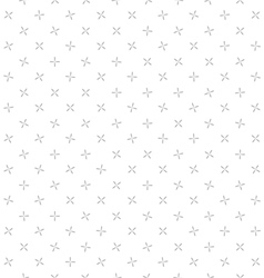 Background crosses seamless pattern gray and white vector