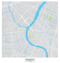 Bangkok city map thailand vector
