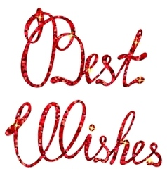 Best wishes lettering tinsels vector