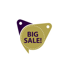 big sale tag template isolated vector image