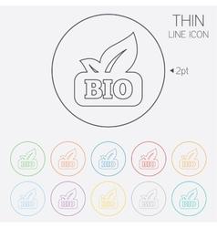Bio product sign icon Leaf symbol vector image