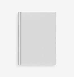 blank gray realistic book cover mockup vector image