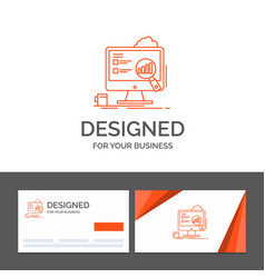 Business logo template for analytics board vector